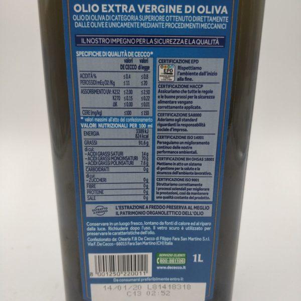 Оливковое масло De Cecco Olio Extra Vergine Classico
