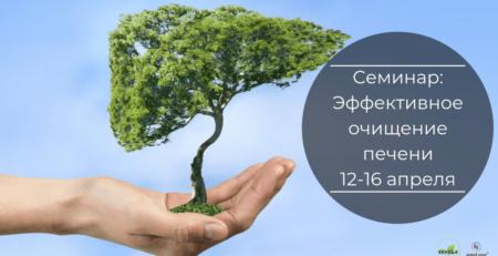 12.04-16.04.19 Семинар: Эффективное очищение печени